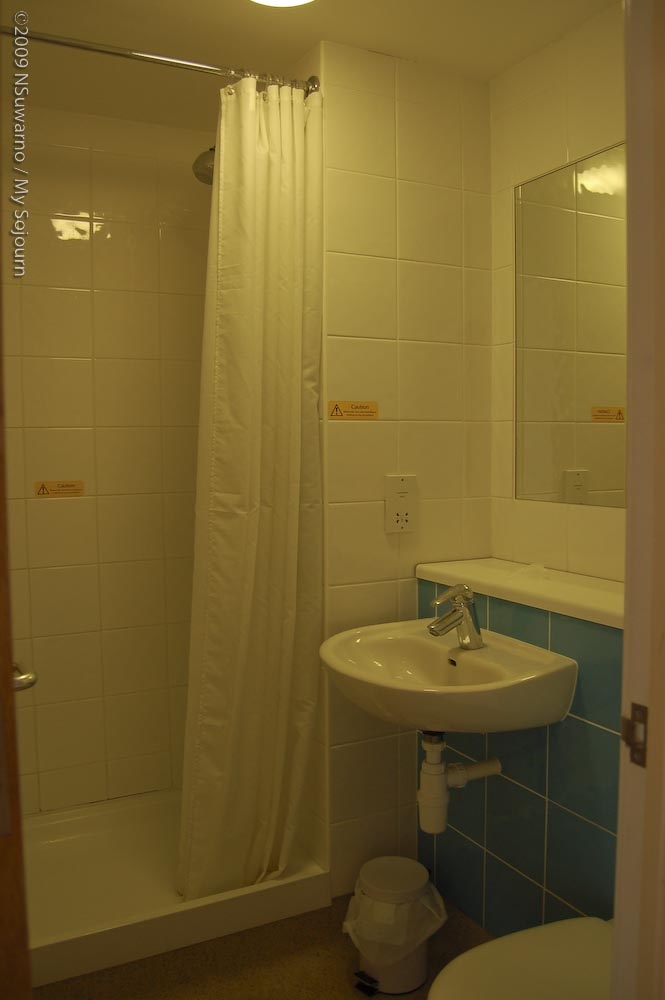 and the bathroom