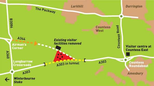 peta kawasan Stonehenge