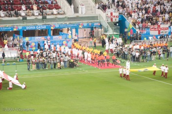 Players parade