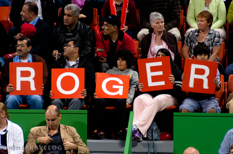 Roger Federer's Supporters... from Bahrain