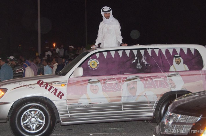 """Qatar"" car on parade"