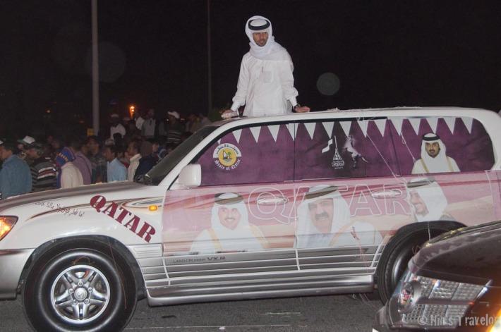 """Qatar"" car on parade"