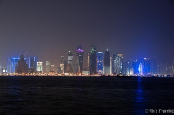 Doha, a moments before the fireworks