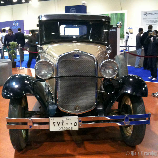 An old Ford on display as a soft introduction