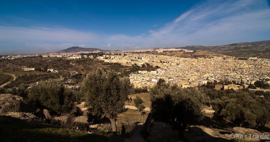 View of Fes el Bali from the hill