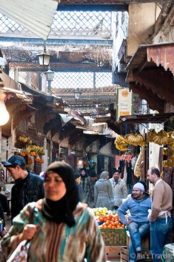 The hustle bussle of Fes' Souq