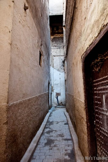 the size of the alley way, really too small for a car