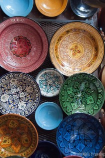 The colourful decorated pot-ware, Moroccan style
