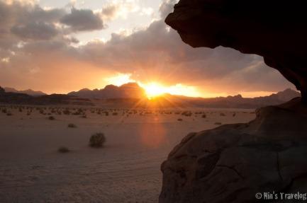 Wadi Rum at sunset