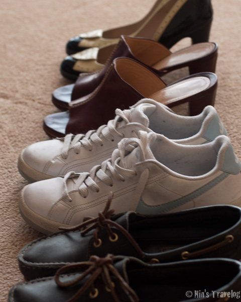 different pairs of shoes