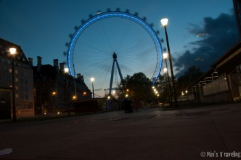 The eye in the evening