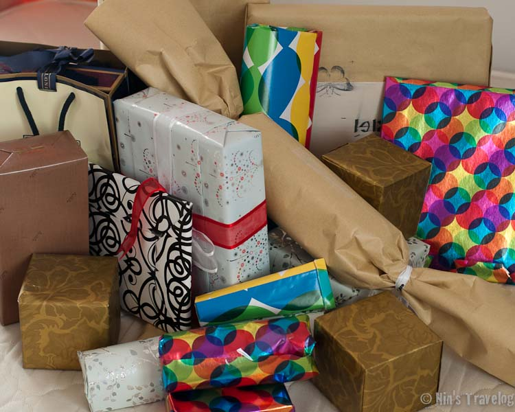Presents' wrapped