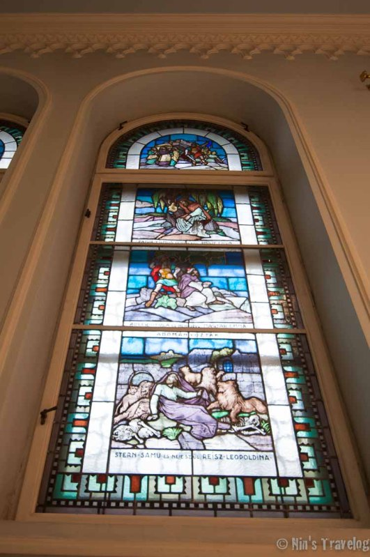 The famous stained glass window