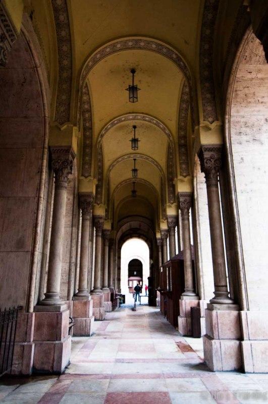 the corridor toward the museum