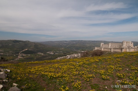 Krak des Chevaliers - lies between the cities of Tartus and Homs; situated in the Homs Gap, guarder the road between the Homs and the coast.