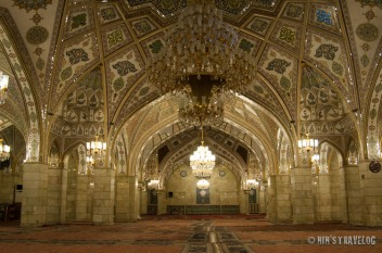 The very ornate Iranian Mosque, at the other end of the town