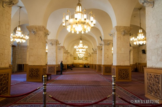 Inside the mosque where people used to pray
