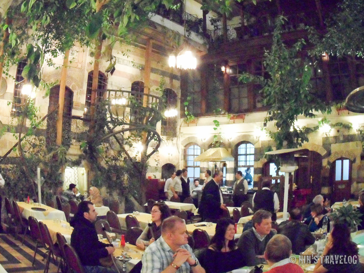 The atmosphere of one of the restaurant inside the Old City, where we eat at the inner court of the restaurant