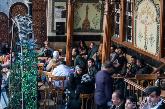 Very popular coffee shop - An Nafura, where people sits there drinking coffee or tea or even smoking sisha, while talking to friends or just seeing and be seen by passer by