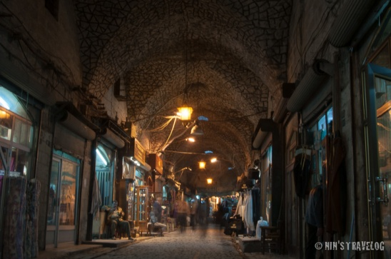 Souk Al Atmah with different finishes to the previous souk, as well as different theme of what they are selling along the corridor.