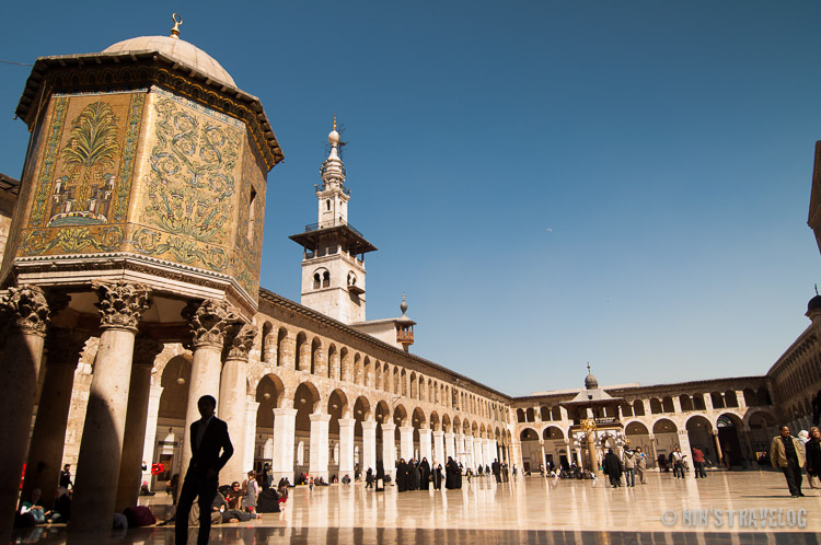 The grandeur of the Damascus' Umayyad Mosque, breath taking, considering this was built in the 8th century.