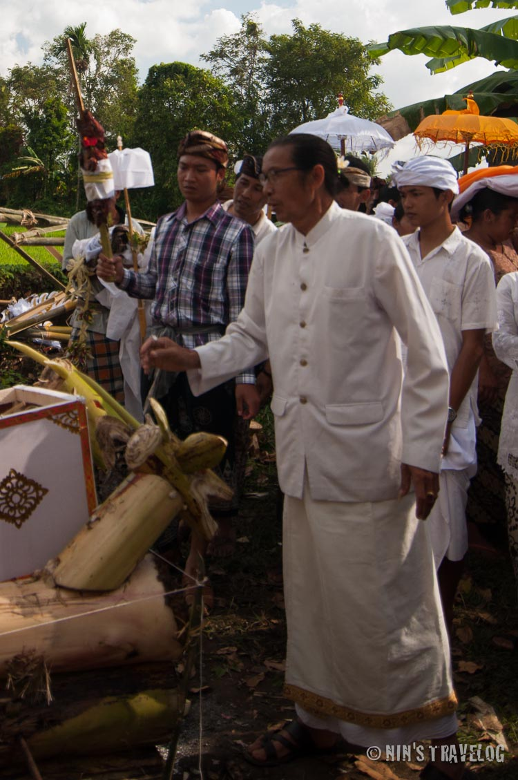 The priest who conduct the Ngaben Ceremony