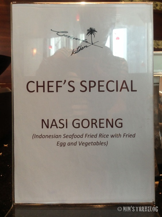 Nasi Goreng station at Marriott Renaissance Hotel-Doha