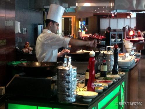 Chef cooking Nasi Goreng