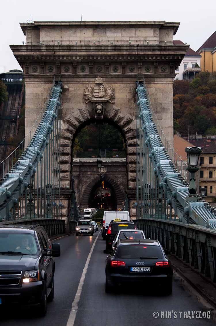 Chain Bridge that connect the two cities, Buda and Pest
