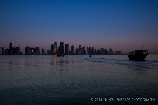 Westbay Doha, the only refreshing view in Doha very early in the morning.