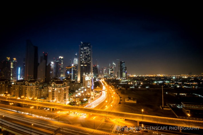 Street light of Dubai