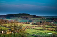 The view up from Shaftesbury, to the village below