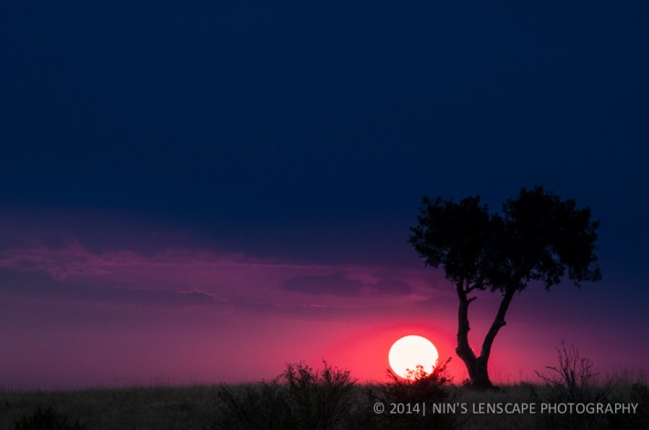 A typical sunset in Kenya