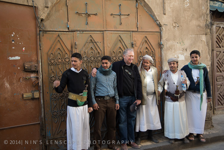 These group of men in Sanaa, are very happy to pase with my husband, eventhough except my husband, none of those gentlemen get to see the final product of the photograph
