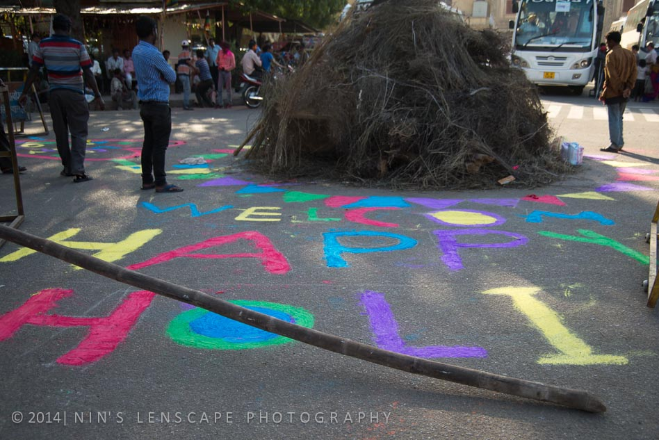 The preparation of Holi festival, the day before.