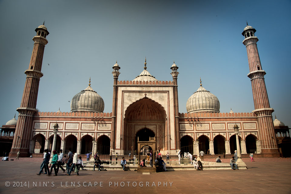 Jama Masjid, the grand mosque of India in Old Delhi