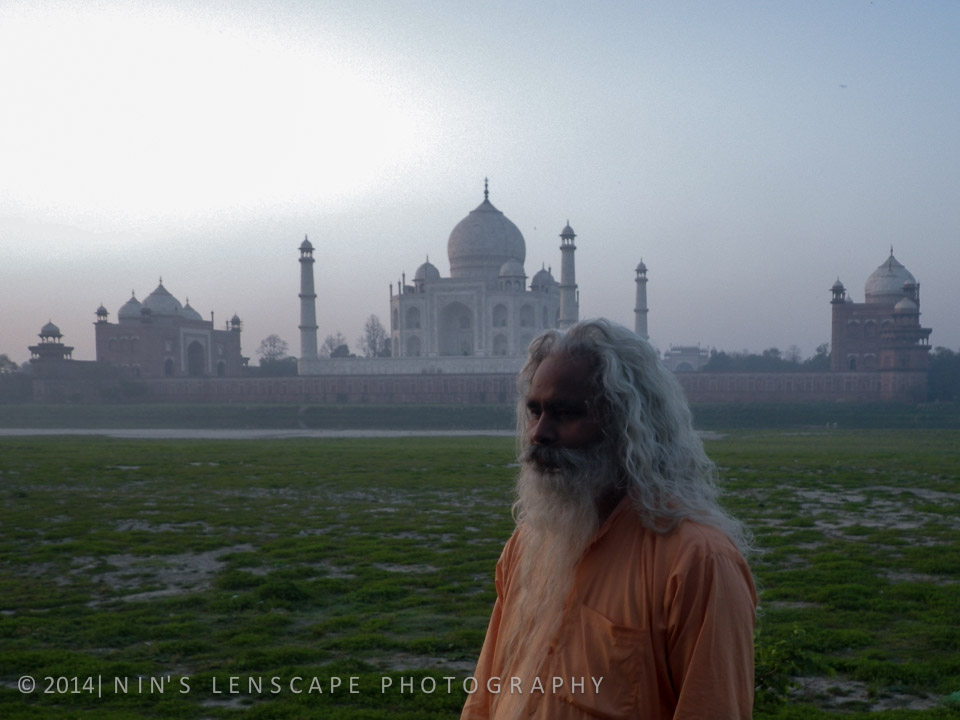 Taj Mahal during sunrise, taken from the other side of the Jamuna river, this was really magical.