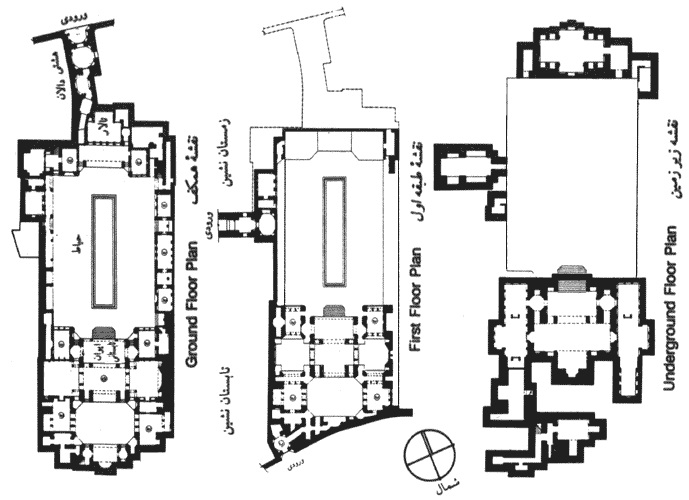 layout of the house, courtesy of Historical Iranian Sites & People