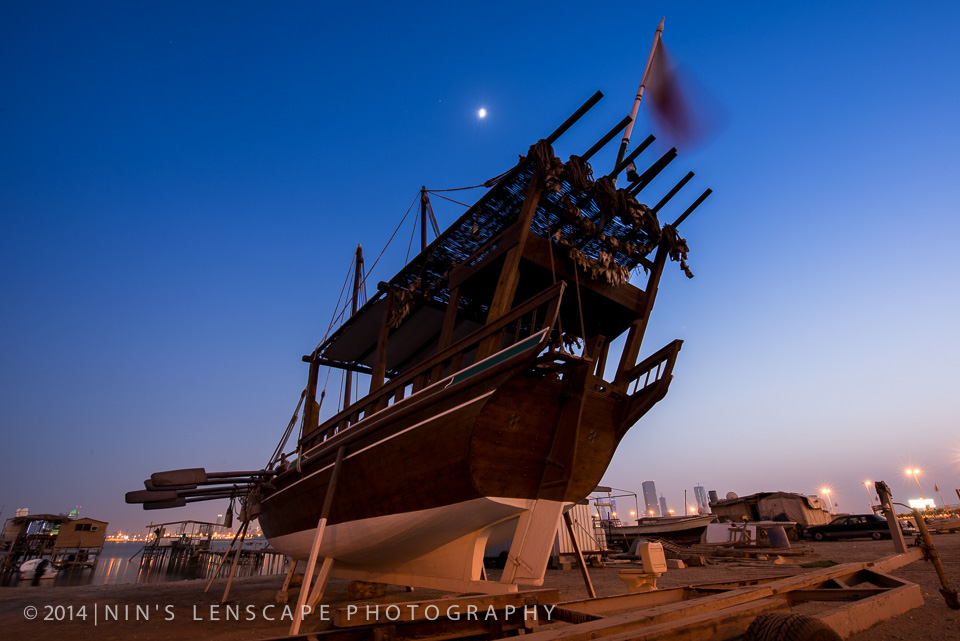 Dhow making still exist in Muharraq Bay just a stone a way from the Bahrain Bridged (feature picture above)