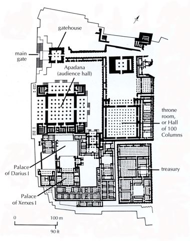 Plan from Persepolis - image taken from University of Washington