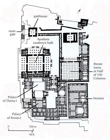 Plan from Persepolis - image taken from University of Washington