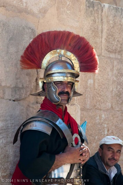 On guard in Jerash