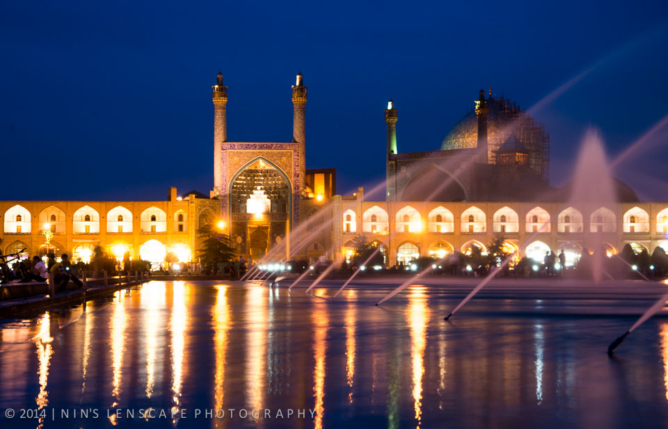 Night few of Naqsh-e Jahan Square in Esfahan