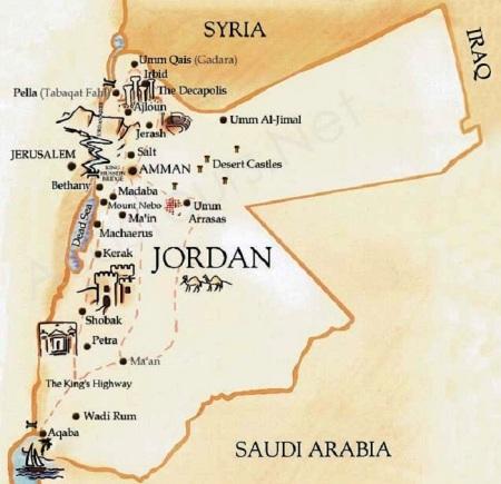Jordan Historical map