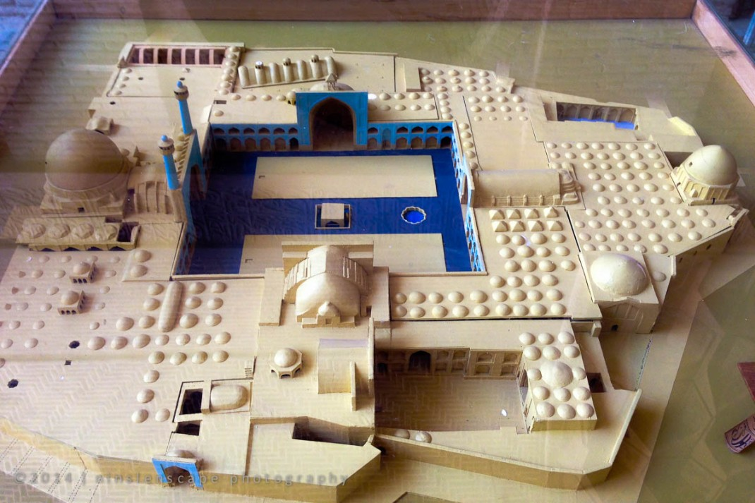 Model of the mosque can be seen at the entrance
