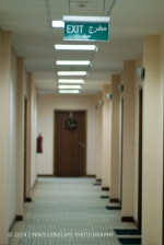 Empty corridor in the office, many of us were taking holiday...