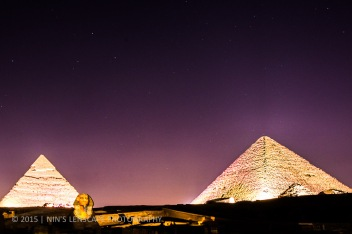 The Light and Sound show near the Pyramids, is now a bit out dated