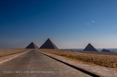 "The ""road"" to Giza Pyramids"