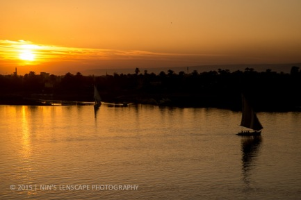 Sunset by the River Nile is always beautiful
