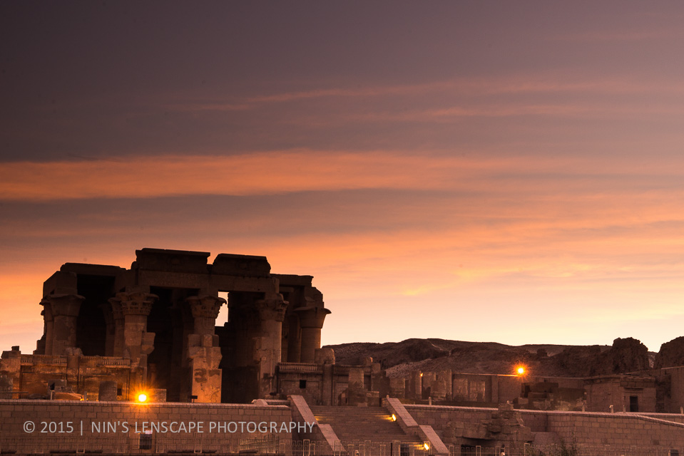 Temple of Edfou just before sunrise
